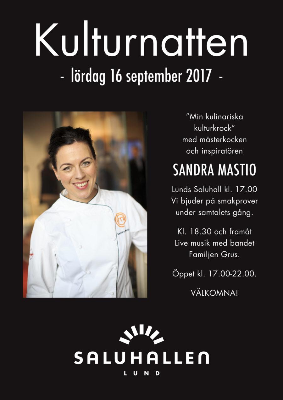 Kulturnatten 2017 i Lunds saluhall med Sandra Mastio