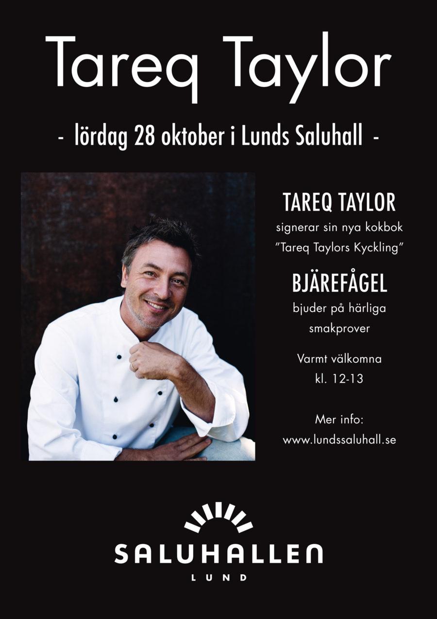 Tareq Taylor i Lunds saluhall lördag 28 oktober 2017
