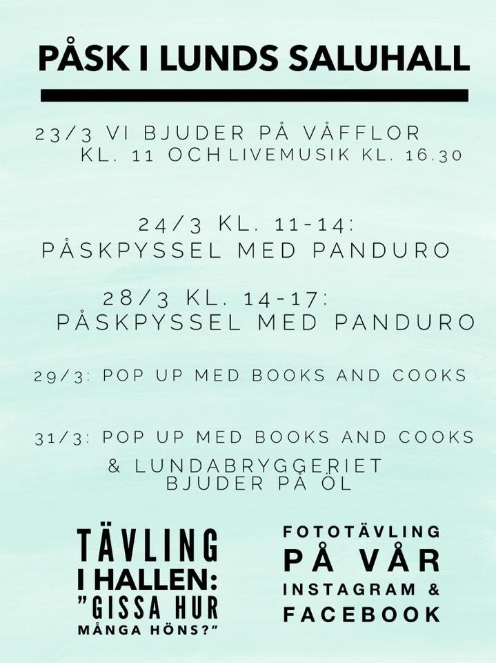 Påskvecka i Lunds saluhall!