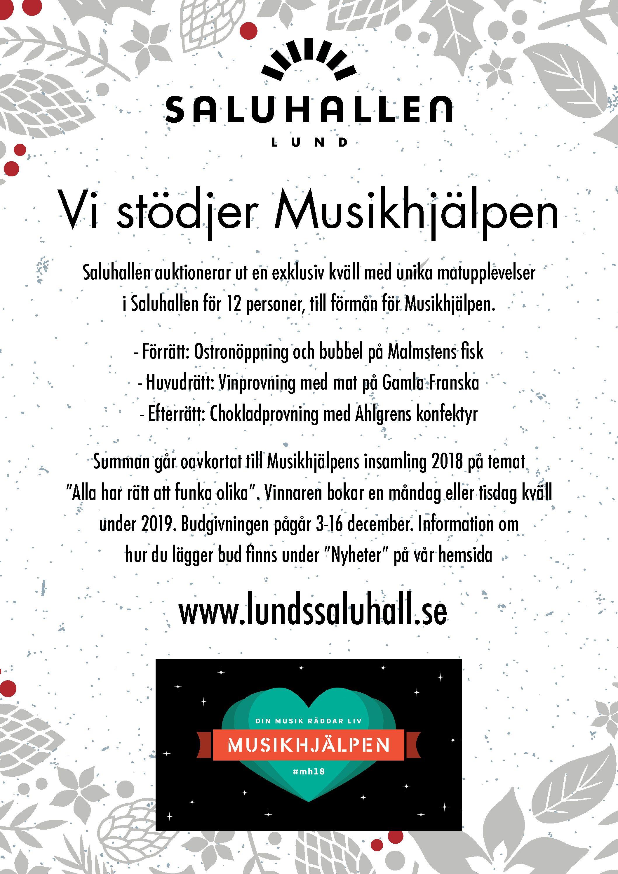 Vi stödjer Musikhjälpen!