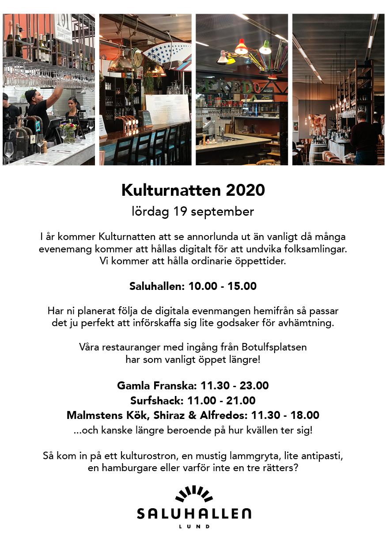 Kulturnatten 19 september 2020