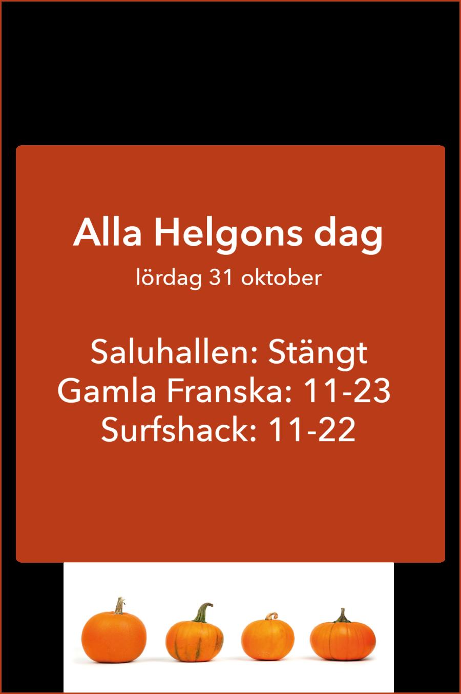 Öppettider Alla Helgons Dag